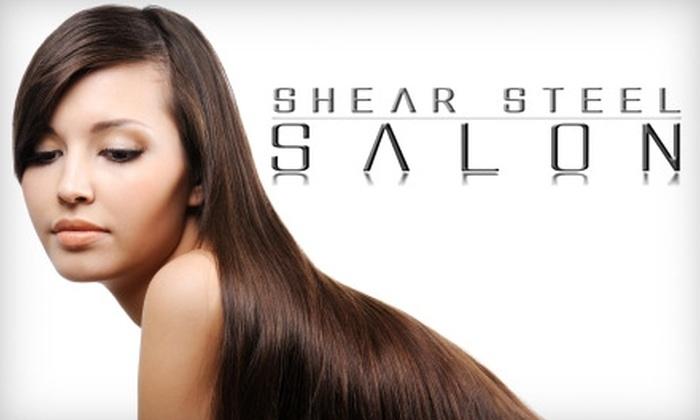 Shear Steel Salon - Monticello: $125 for Brazilian Keratin Treatment at Shear Steel Salon ($350 Value)