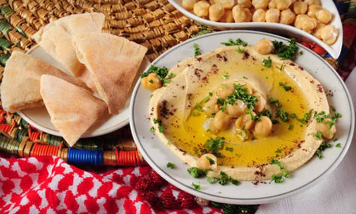 Flying Carpet Café & Bar - Fairmount/Art Museum: Mediterranean Meals for Two at Flying Carpet Café & Bar. Two Options Available.
