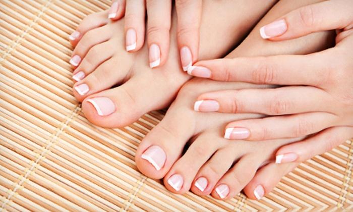 Lady Sun Nails & Spa - Lawrenceville: Sun Deluxe Mani-Pedi with Optional Reflexology Foot Massage at Lady Sun Nails & Spa in Lawrenceville (Up to 55% Off)