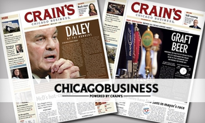 """Crain's Chicago Business - Chicago: $25 for a One-Year Subscription to """"Crain's Chicago Business"""" ($98 Value)"""