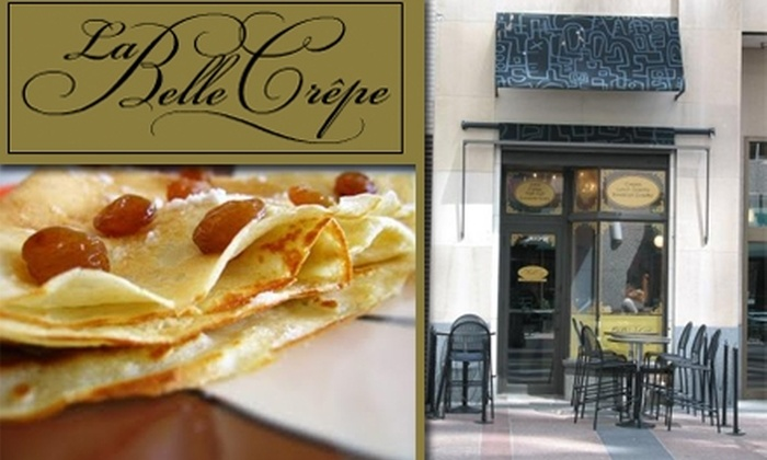 La Belle Crepe - Downtown West: $5 for $10 Worth of Sweet and Savory Crêpes at La Belle Crepe