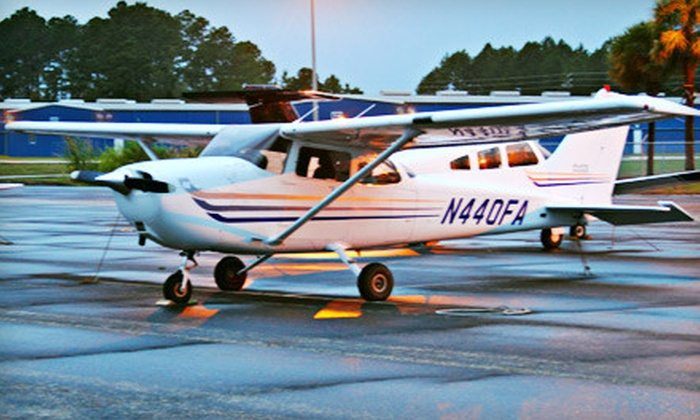 A-Cent Aviation - Herlong Airport: $110 for a 90-Minute Flight Lesson from A-Cent Aviation ($229 Value)