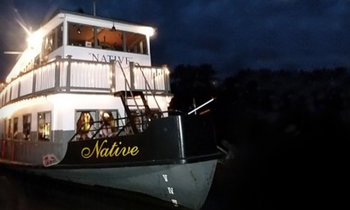 Paddlewheeler Riverboat Cruises - Downtown: Three-Hour Friday Fun Night Cruise for Two or Four at Paddlewheeler Riverboat Cruises (Up to 58% Off)
