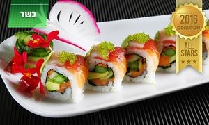 """matsuya מסעדת מאצויה: מאצויה, יפנית כשרה ויוקרתית: ארוחת שף יפנית בת 9 מנות, כולל אלכוהול, רק ב-199 ₪ לזוג! עד חצות, כולל מוצ""""ש"""