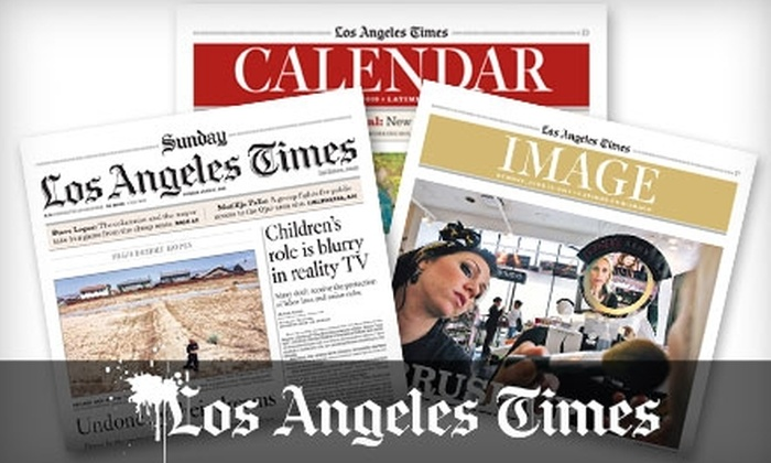 Los Angeles Times - Orange County: $10 for a 52-Week Subscription to the Sunday Edition of the Los Angeles Times ($52 Value)