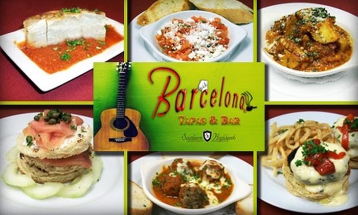 Barcelona Tapas & Bar - Enterprise: $15 for $35 Worth of Tapas, Spanish Cuisine, and Drinks at Barcelona Tapas & Bar