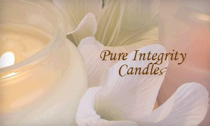 Pure Integrity Soy Candles: $15 For $35 Worth of Online Candles and Gifts at Pure Integrity Soy Candles