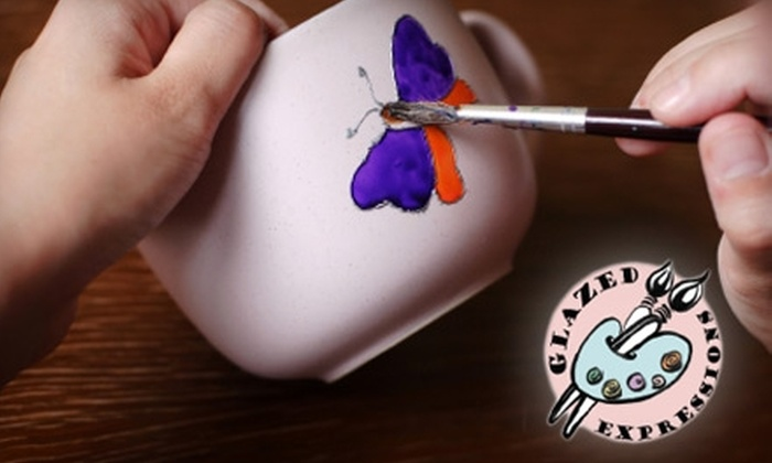 Glazed Expressions - Multiple Locations: $8 for $16 Worth of Paint-Your-Own Pottery and Studio Fees at Glazed Expressions