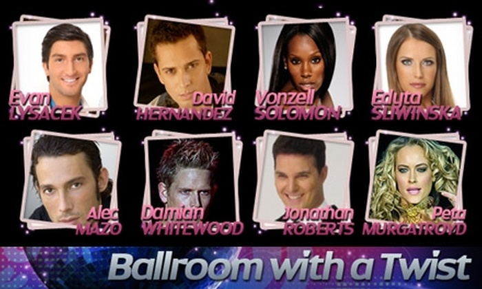 """Ballroom with a Twist"" Tour - Calgary: One Balcony Ticket or One Meet-and-Greet Ticket to ""Ballroom with a Twist"" Tour on Oct. 12. Choose Between Two Options."
