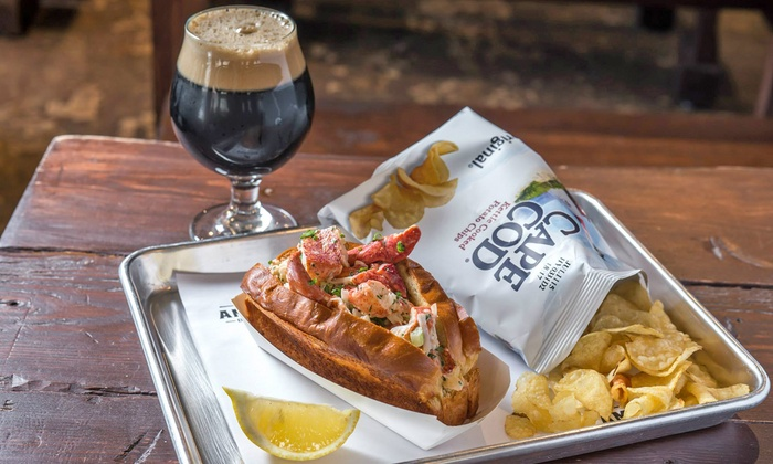 Ambrose Beer & Lobster - Financial District: Lobster Rolls or Whiskey Flights with Snacks at Ambrose Beer & Lobster (Up to 54% Off). Three Options.