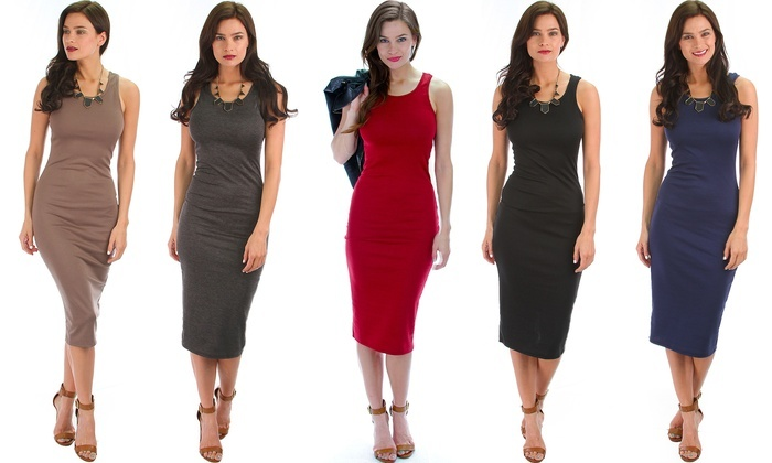 Lyss Loo Body-Con Midi Dress