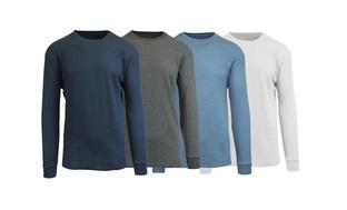 4-Pks. Galaxy Harvic Waffle Knit Shirts