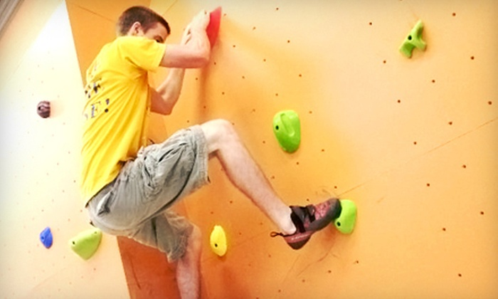 The Wall - Oswego: Beginners' Rock-Climbing Class or Climbing Package with Shoe Rental for Two, Three, or Four at The Wall (Up to 55% Off)