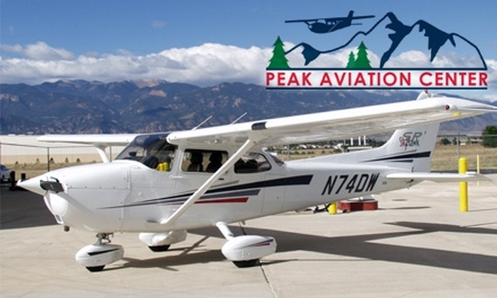 Peak Aviation Center - Colorado Springs: $70 for a 35-Minute Introductory Flight Class at Peak Aviation Center ($119 Value)