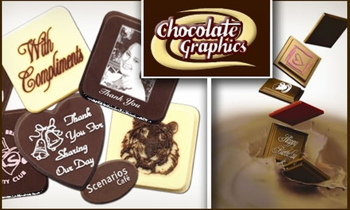 Chocolate Graphics - Tustin: $25 for $50 Worth of Embossed Chocolates at Chocolate Graphics