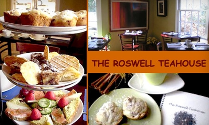 The Roswell Teahouse - Roswell Hills: $10 for High-Afternoon Tea, Including Sandwiches, Desserts, and Unlimited Tea, at The Roswell Teahouse ($24 Value)