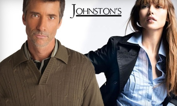 Johnston's - Wichita: $25 for $50 Worth of Upscale Men's and Women's Apparel at Johnston's