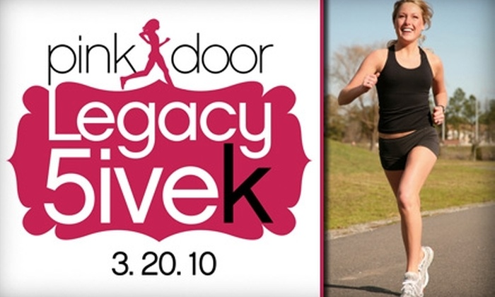 Pink Door Nonprofit Houston - Stafford Centre: $15 for an Adult Registration and Run at the Pink Door 5K Legacy Charity Race on March 20