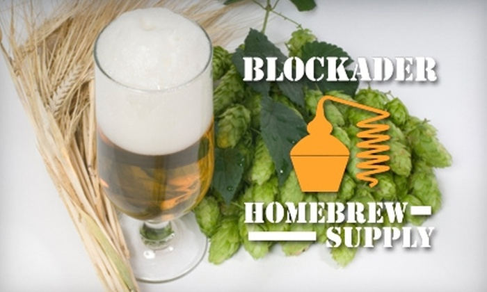 Blockader Homebrew Supply - Athens-Clarke County unified government (balance): $75 for a Home Beer-Brewing Kit at Blockader Homebrew Supply ($150 Value)