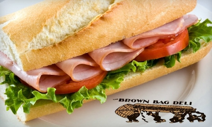 The Brown Bag Deli - Beaumont: $5 for $10 Worth of Subs, Drinks, and More at The Brown Bag Deli