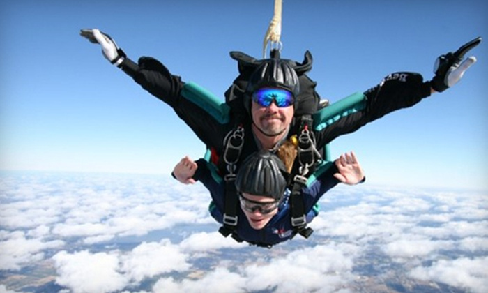 Florida Skydiving Center - Central Business District: $130 for a Tandem Skydive and T-shirt from Florida Skydiving Center in Lake Wales ($219 Value)