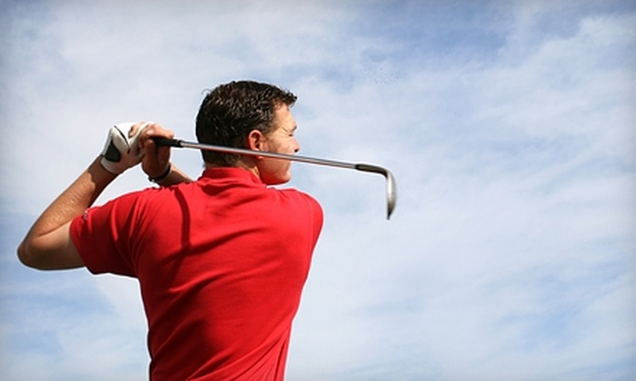 Sluggers & Putters - Lawrence: $17 for Five Buckets of Balls at Golf Driving Range ($34 Value) at Sluggers & Putters