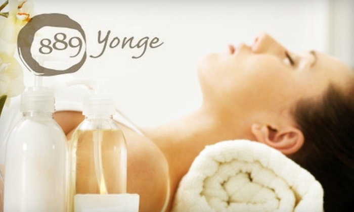 889 Yonge - Rosedale: $55 for Facial or Body Treatment (Up to a $110 Value) or $30 for $60 Worth of Soy Waxing Services at 889 Yonge