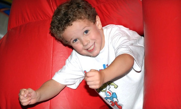Jump Zone Hartford - Multiple Locations: $30 for a Kids' Play Package with Six Three-Hour Open Play Sessions and Six Popcorns at Jump Zone (Up to $102 Value)