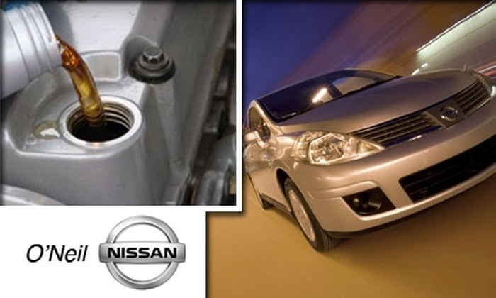 Oneil Nissan - Warminster: $16 for Full-Service Oil Change at O'Neil Nissan ($34 Value)