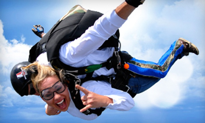 Skydive Temple - South Bell: $140 for a Tandem Skydiving Session from Skydive Temple (Up to $200 Value)