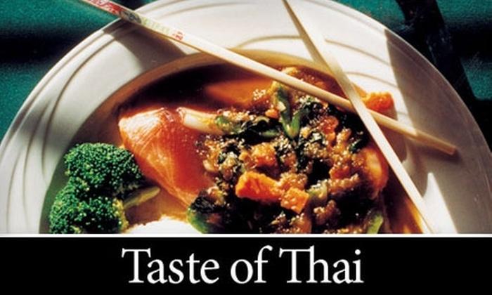 Taste of Thai - Greensboro: $10 for $20 Worth of Authentic Thai Cuisine at Taste of Thai