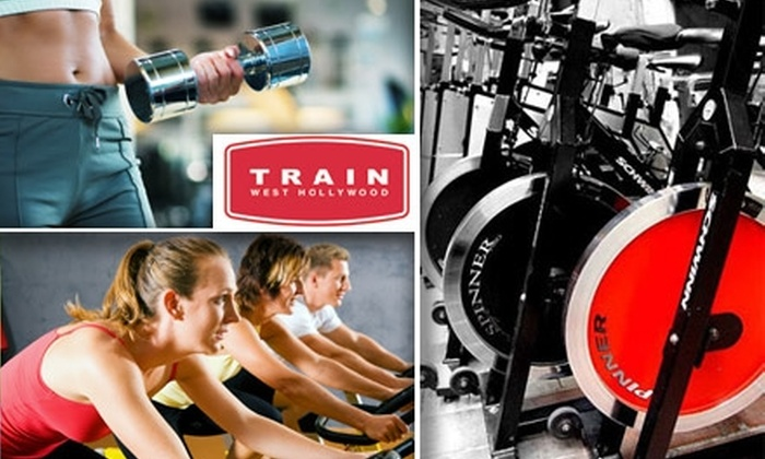 TRAIN west hollywood - West Hollywood: $49 for Five Spin Classes and a One-Hour Personal Training Session at TRAIN west hollywood