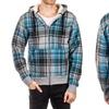 Distortion Men's Zip-Up Hoodie with Sherpa Lining