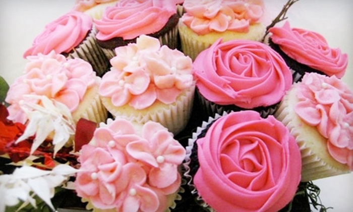 Designer Delights - St Catharines-Niagara: $22 for a 12-Piece Cupcake Bouquet ($45.20 Value) or $10 for One Dozen Cupcakes ($22.60 Value) from Designer Delights