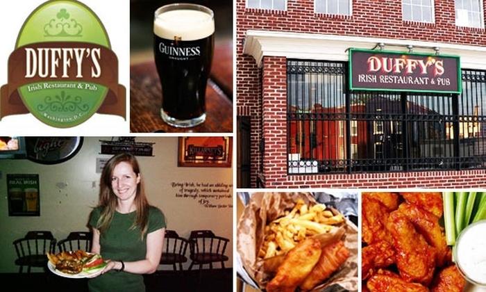 Duffy's Irish Restaurant & Pub - U Street - Cardozo: $15 for $35 Worth of Drinks and Grub at Duffy's Irish Restaurant & Pub