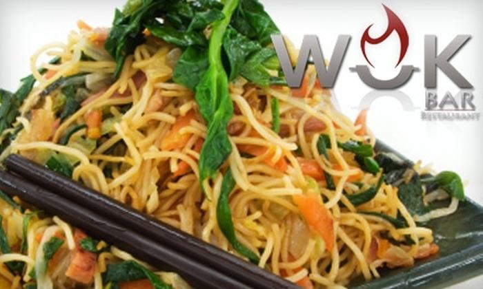 Wok Bar Restaurant - Fourth Ward: $15 for $30 Worth of Asian-Fusion Fare at Wok Bar
