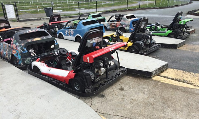 Blue Fox Drive-in Theater - Oak Harbor: $99 for a Go-Kart Party with Arcade Games and Food for Six at Blue Fox Drive-in Theater ($156 Value)