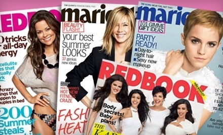 Marie Claire and Redbook - Marie Claire and Redbook Magazines in