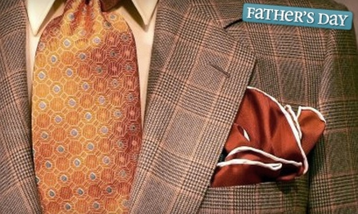 Jakob Custom Clothiers - Great Neck: $625 for a Custom Suit Package from Jakob Custom Clothiers ($1,300 Value)