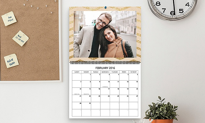 Staples - Green Bay: One, Two, Three, or Five Custom Photo Calendars from Staples (Up to 68% Off)