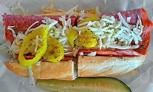 Dave's Cosmic Subs: Sub Meal with Sides, Desserts, and Drinks for Two or Four at Dave's Cosmic Subs (Up to 48% Off)