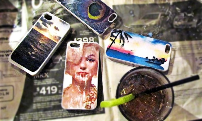 Bars + Crafts - Greenwich Village: Make-Your-Own iPhone Case, Photo Canvas, or Coasters Class, or Private Party with Bars + Crafts (Up to 56% Off)
