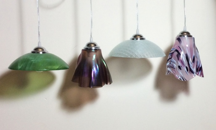 Designs by Sylvanye Glass Studio - Smyrna: Handmade Glass Pendant Light Workshop for One, Two, or Four at Designs by Sylvanye Glass Studio (Up to 65% Off)