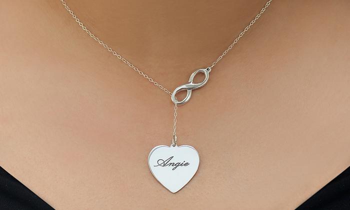 Monogramhub.com: $29 Lariat Infinity Necklace with Engravable Heart from Monogramhub.com ($119 Value)