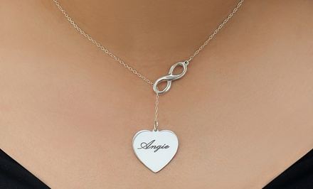 $29 Lariat Infinity Necklace with Engravable Heart from Monogramhub.com ($119 Value)