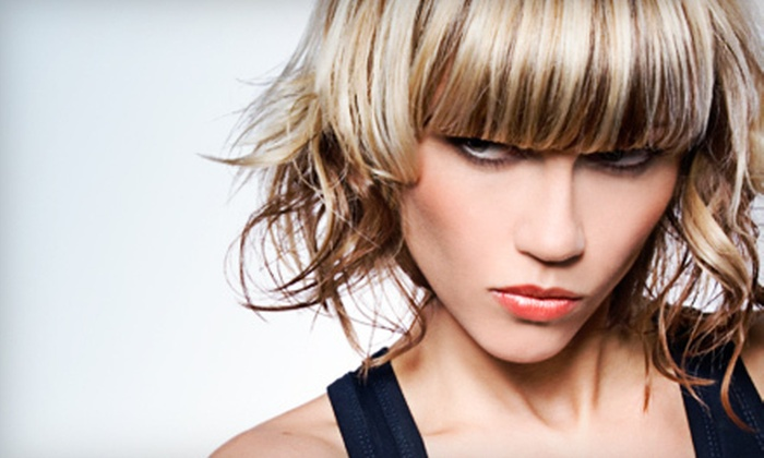 J Caldwell Studio - Crosswoods: Haircut with Partial or Full Highlights and Style at J Caldwell Studio (Up to 52% Off)