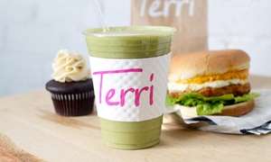 Terri: Catered Sandwich Platter for 10 or Two Groupons, Each Good for $10 Worth of Café Food at Terri (Up to 51% Off)