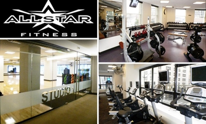 Allstar Fitness  - Central Business District: 1-Month Membership and 2 Training Sessions at Allstar Fitness
