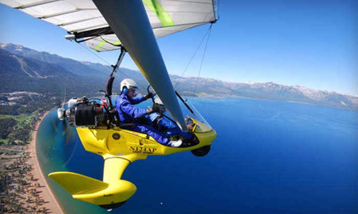 Ultimate Flight - Carson City: $175 for Powered Hang-Gliding Adventure with Photo Package and T-shirt from Ultimate Flight in Carson City ($350 Value)