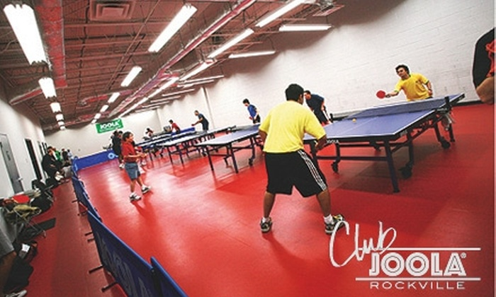 Club JOOLA - North Bethesda: $25 for a One-Month Open-Play Table-Tennis Membership, One Class, and a Club T-Shirt at Club JOOLA ($51.95 Value)